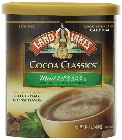 Land O Lakes, Cocoa Classics, Mint Hot Cocoa Mix, 14.8oz - Hot Chocolate With Cocoa Powder