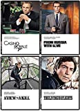 Secret 007 Service Spy Agent James Bond Mission Collection From Russia With Love Sean Connery / Casino Royale Daniel Craig / View to A Kill Roger Moore & Living Daylights Timothy Dalton Action Movies