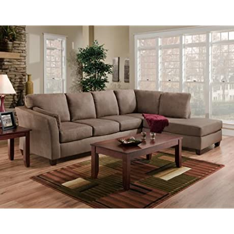 Chelsea Home Furniture Broome 2 Piece Sectional Glacier Dark Brown