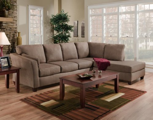 Chelsea Home Furniture Broome 2-Piece Sectional, Glacier Dark Brown