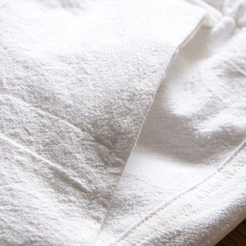 Pantalons Sport Blanc Fitness Hommes Mode De Plage Respirants Été Running fq5zP
