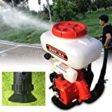 KANING Mist Duster Sprayer,2-Strock Backpack Agricultural Mist Duster Sprayer Gasoline Powered Garden Blower Machine USA Stock