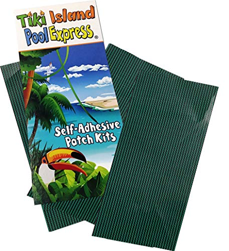 3 Pack Green Mesh Swimming Pool Safety Cover Self Adhesive Repair Patches