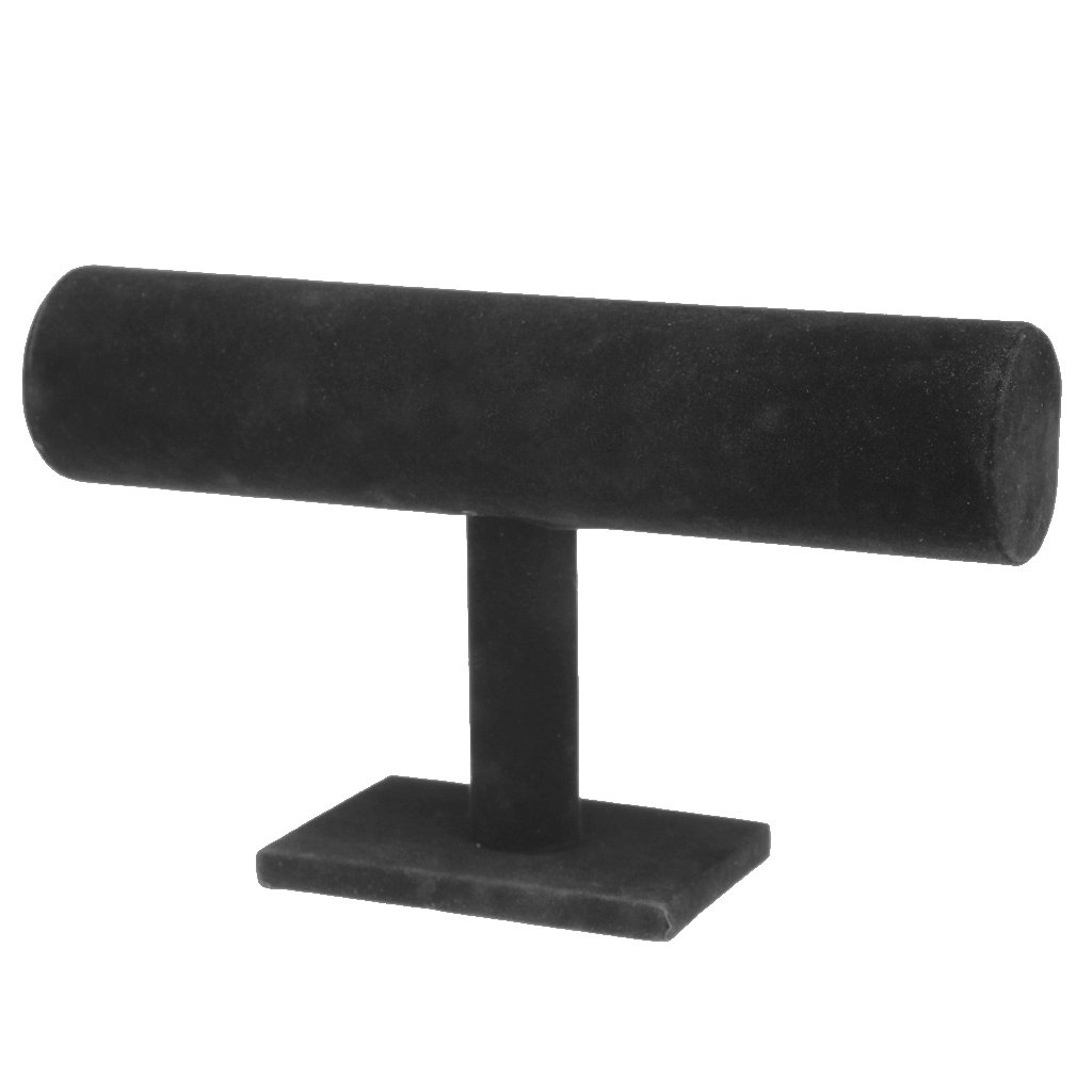 Baoblaze Hot Pink Black White Gray Beige Jewelry Bracelet Display Stand Holder Shelf