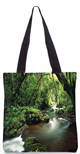 """Snoogg See Im Dschungel Einkaufstasche 13,5 X 15 In """"Shopping-Dienstprogramm Tragetasche Aus Polyester Canvas"""