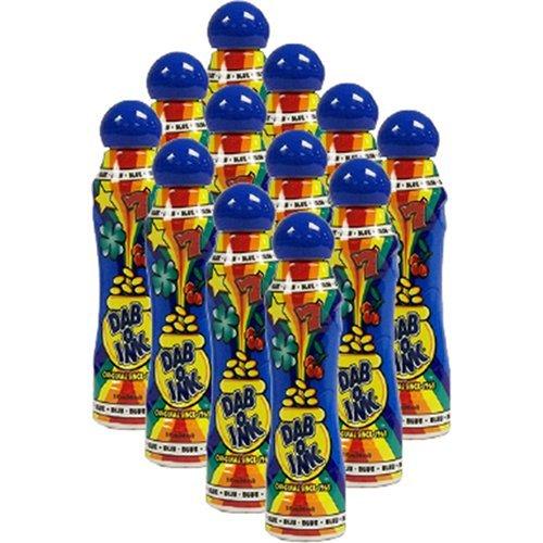 One Dozen 3oz Dab-O-Ink Blue Bingo Dauber Clarence J Venne