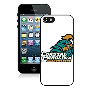 Popular iPhone 5 5S Case ,NCAA Big South Conference Coastal Carolina Chanticleers 1 Black iPhone 5 5S Screen Case Hot Sale And Fashionable Designed Cover Case