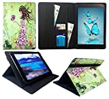 Sweet Tech ANOC 10.1 Inch Android Tablet Girl with Butterfly Universal Wallet Case Cover Folio (10-11 inch)