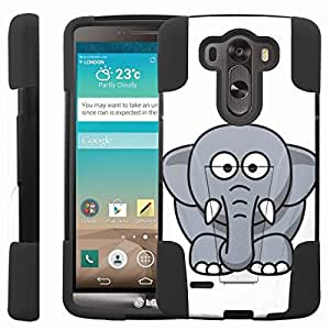 [ManiaGear] Rugged Armor-Stand Design Image Protect Case (Mr. Elephant) for LG G3
