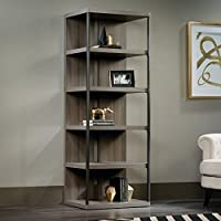 Sauder International Lux 5 Shelf Bookcase in Diamond Ash