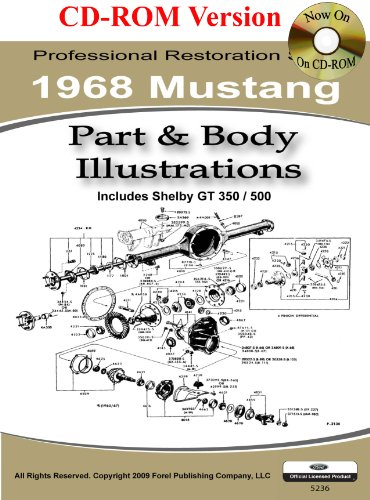 Classic Ford Mustang Parts (1968 Mustang Part and Body Illustrations)