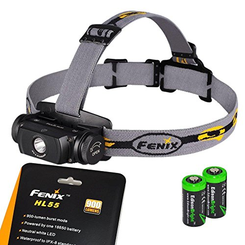 HL55 Headlamp EdisonBright Lithium batteries