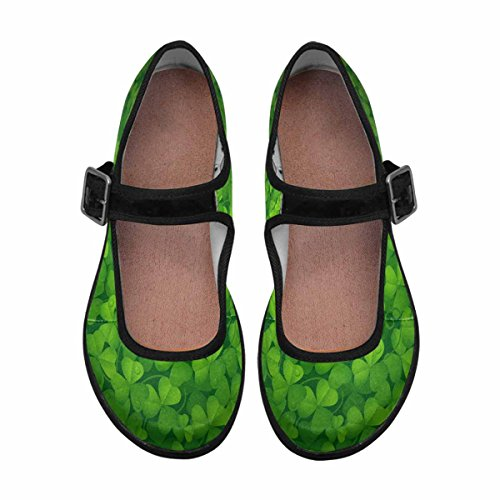 Interestprint Mujeres Comfort Mary Jane Flats Zapatos Casual Para Caminar Multi 3
