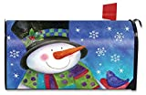 Briarwood Lane Festive Snowman Winter Large Mailbox Cover Cardinal Oversized
