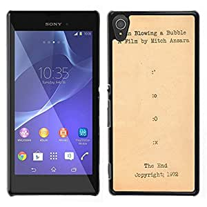 MOBMART Carcasa Funda Case Cover Armor Shell PARA Sony Xperia T3 - The Script Of An Old Film
