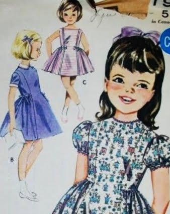 Butterick Dress Vintage Pattern Uncut - Vintage 60's Uncut Butterick Girls sz 3 dress Pattern 2194
