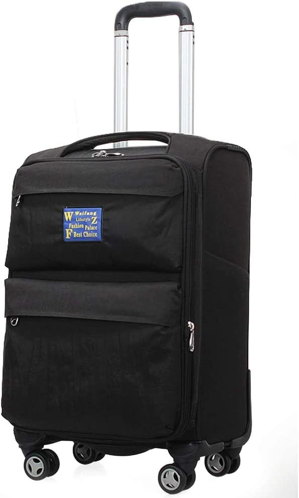 Color : Black-Singer, Size : 20 Luggage Super Lightweight Durable Hold Travel Carry Luggage Suitcases Travel Bags Trolley Case Carry On Hand Oxford 4 Wheels Tingting
