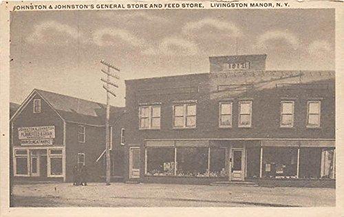 Johnston & Johnston's General Store and Feed Store Livingston Manor, New York, - Livingston Stores