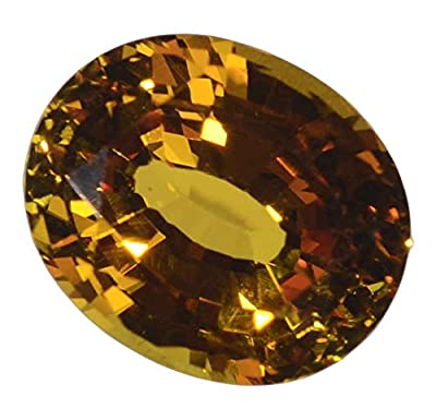 Yellow Created Sapphire Oval Loose Gemstone 11mm by uGems