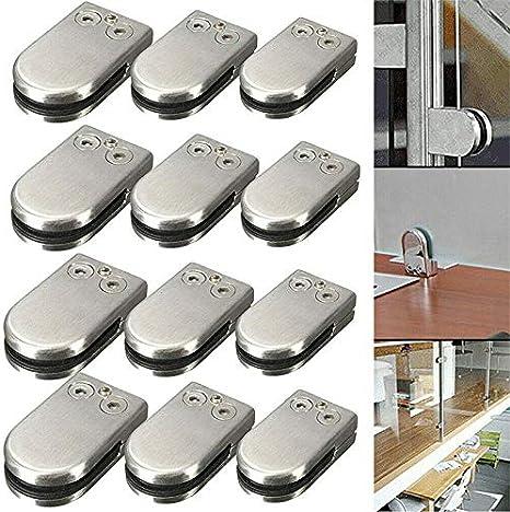 6-8mm 8 x Pince De Verre En Acier Inoxydable 304 R/églable En Verre pour Balustrade Escalier Main courante
