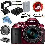 Nikon D5300 DSLR Camera With 18-55mm f/3.5-5.6 AF-P DX VR Lens Bundle (Red)