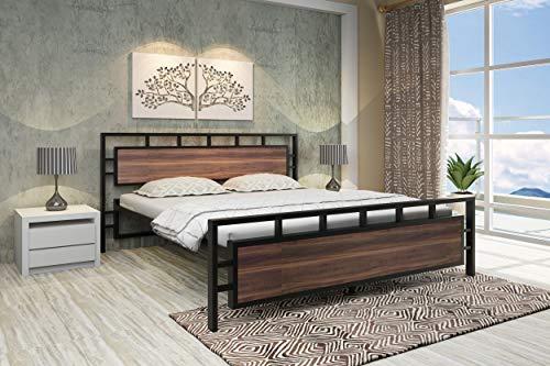 Homdec Queen Engineered Wood Platform Bed Without Storage     Black