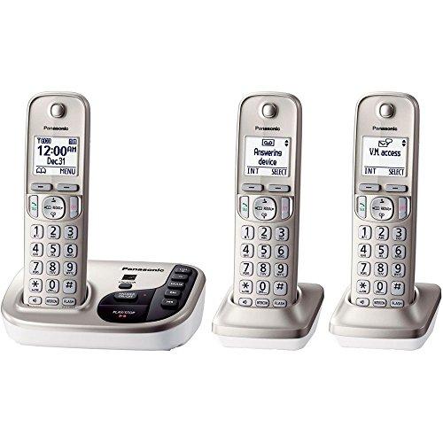 Cordless Phones Talking Caller Id (Panasonic KX-TGD223N Expandable Cordless Phone with Talking Caller ID- 3 Handsets (Certified Refurbished))