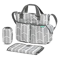 Diaper Bag By Bambini & ME— Stylish Arrows, Functional Baby Stroller Organize...