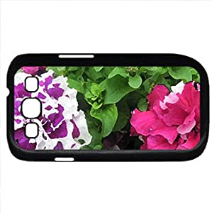 Flowers day at the greenhouse 91 (Flowers Series) Watercolor style - Case Cover For Samsung Galaxy S3 i9300 (Black)