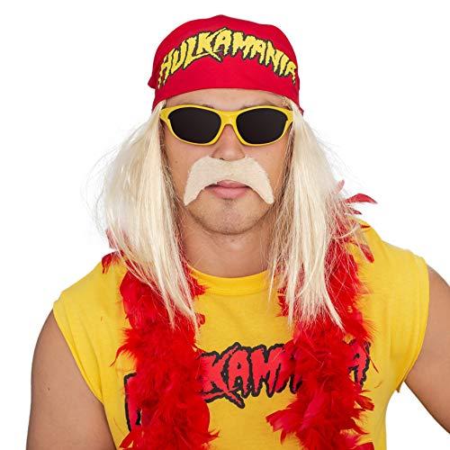 Pro Wrestling Costumes Mens Boots - Hulk Hogan Hulkamania Complete Costume Set