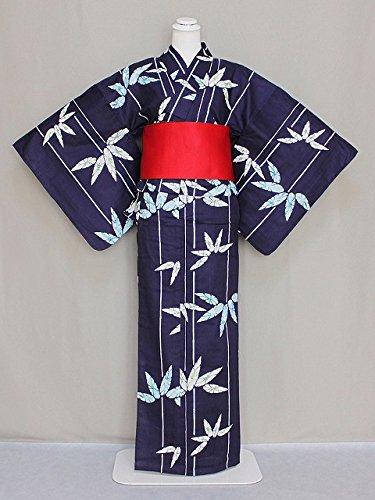 数字奇妙な列車キスミスの浴衣 レディースゆかた 仕立上り浴衣 紺色のゆかた フリーサイズ D0654-46