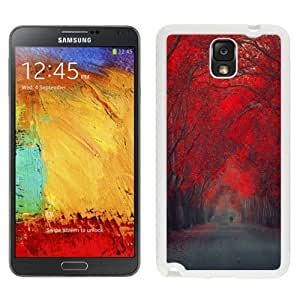 NEW Custom Diyed Diy For SamSung Note 3 Case Cover Phone With Red October Forest Pathway_White Phone