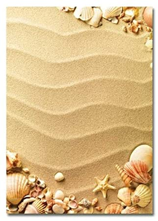 SANDCASTLE 20 sheets DIN A4 High-quality stationery