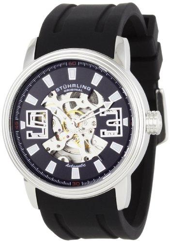Delphi Mens Skeleton - Stuhrling Original Men's 1071.33161 Classic Delphi Huntsman Automatic Skeleton Watch
