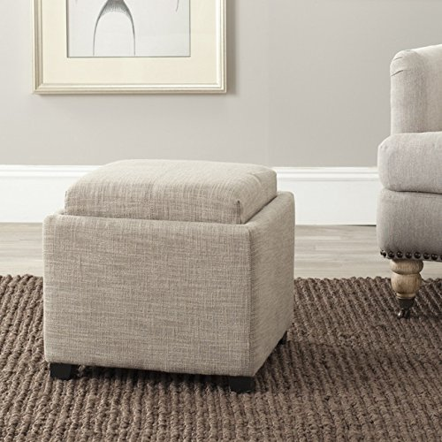 Safavieh Hudson Collection Harrison Stone Single Tray Ottoman
