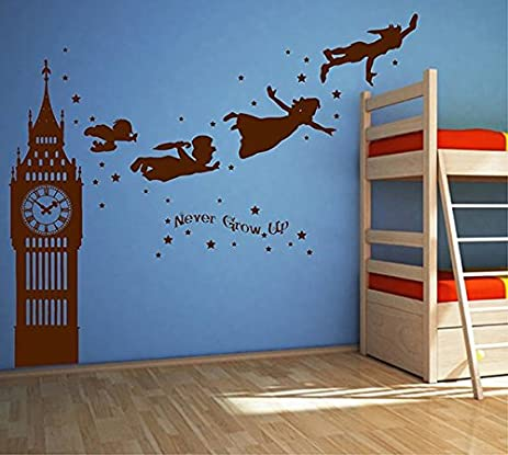 Amazon.com: ik2803 Wall Decal Sticker Peter Pan fairy tale of Big ...