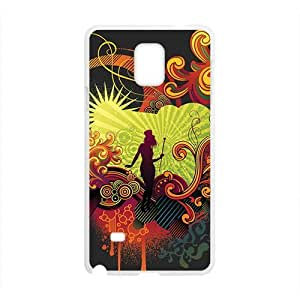 Happy Creative Girl Graffiti Custom Protective Hard Phone Cae For Samsung Galaxy Note4