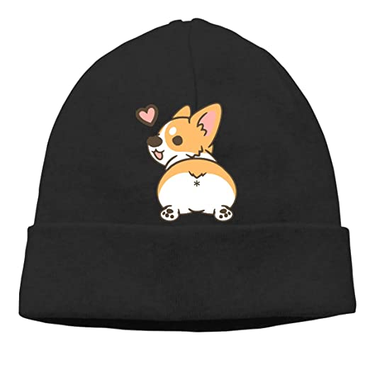 a9678c4b11d4 Funny Corgi Butt Beanie Hat Classic Toboggan Hat Winter Hats Warm Hat  Beanies for Men and Women at Amazon Men's Clothing store:
