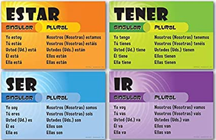Amazon.com: Juego de 4 tablas de VERB (español): Industrial ...