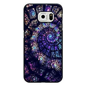 Samsung Galaxy S6 Edge Cover,Absorbing Magic Purple Stained Glass Window Phone Case Snap on Samsung Galaxy S6 Edge