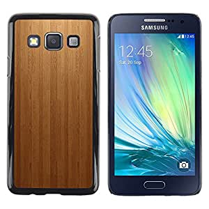 Design for Girls Plastic Cover Case FOR Samsung Galaxy A3 Wood panel Texture Patern OBBA