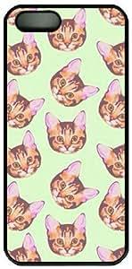 Cat's Head Pattern Theme Iphone 5 5S Case by icecream design