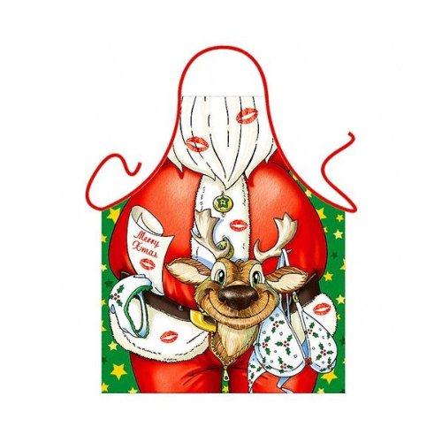 """Santa Claus"" (Naughty) - Kitchen Apron - 100% Polyester"