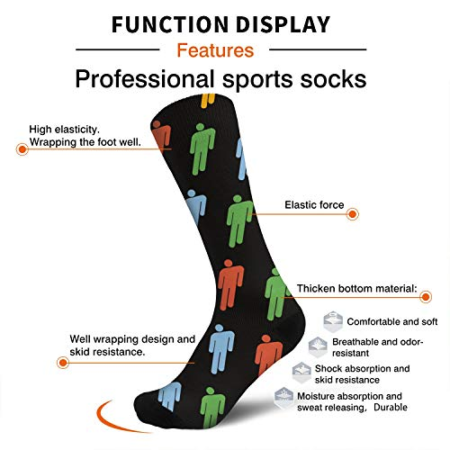 Woman Dress Cool Print Socks Billie-Eilish Walkout Cotton Stockings Fits Shoe Size 5-9
