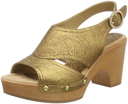 Unisa Ontil_Se, Sandales Bout Ouvert Femme Or (Old Gold)