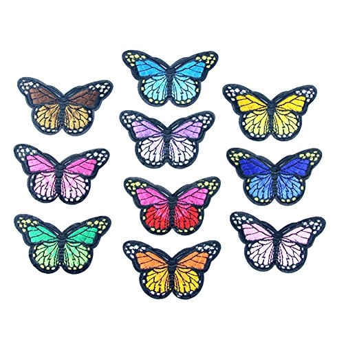 Partyfareast Embroidery Patches Iron On Fabric Badges Clothes Applique For Jacket Hat Bag Accessories (butterfly) from Partyfareast