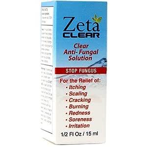 Amazon Com Zetaclear 5 Oz Clear Nail Fungus Solution Brush