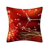 Dermanony 18 inch Christmas Pillow Case Glitter Polyester Throw Pillow Cover Home Decor Sofa Cushion Throw Pillow Case