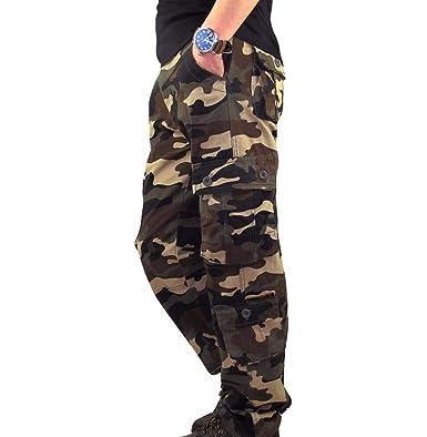 SASOFIA Hombre Deporte Pantalones Slim Fit Estilo básico ...