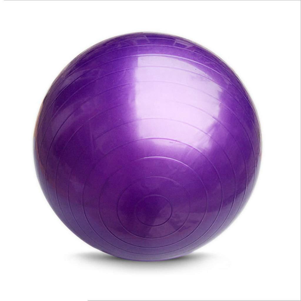 TMY Ballon De Yoga Anti-déflagrant PVC 55cm65cm75cm Ballon De Fitness (Color : Purple)